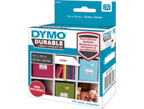 Etikett Dymo Durable 25x54mm vit 160st/rl