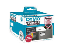 Etikett Dymo Durable 57x32mm vit 800st/rl
