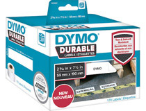 Etikett Dymo Durable 59x190mm vit 170st/rl