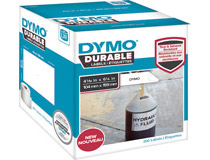 Etikett Dymo Durable 104x159mm vit 200st/rl