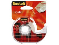 Tejp Scotch Crystal 19mmx25m med hållare