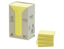 Post-it Recycled 38x51mm gul 24st/fp